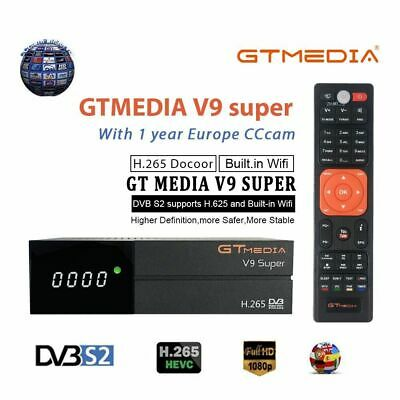 Gtmedia V9 Super Full H.265 DVB-S2 TV Decodificador de Satélite 1080P con WIFI