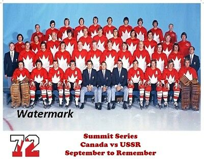 1972 Summit Series Team Canada Color Photo 8 X 10 Photo  Picture Free Shipping
