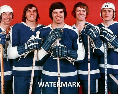 73 - 74 NHL Toronto Maple Leaf Rookies MacDonald Salming  Color 8 X 10 Photo