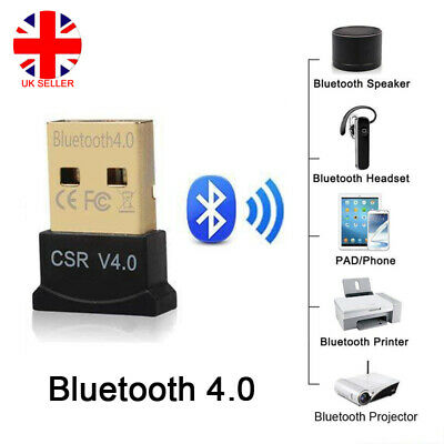 Wireless USB Bluetooth V4.0 CSR Dongle Adapter for Windows 7 8 PC Laptop Phone