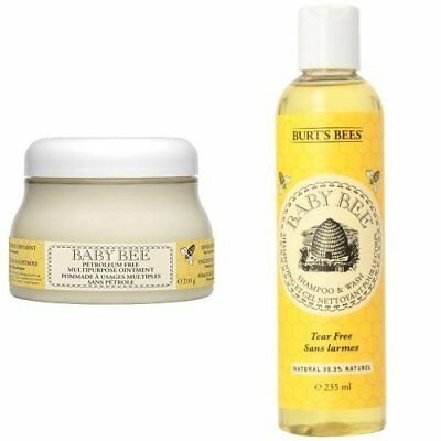 Burt's Bees Baby Bee Multipurpose Ointment and Shampoo and Wash Duo Set