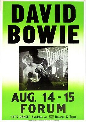 """Reproduction """"David Bowie - Forum Concert"""" Poster, Home Wall Art, Vintage Print"""