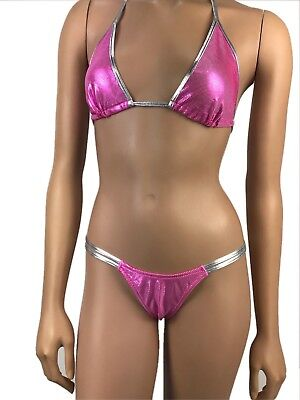 Exotic Dancewear G Thong Tri Top V Double String Thong Clubwear Stripper Pole