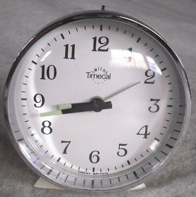 Vintage Smiths Timecal Mechanical Space Age Alarm Clock,Mint,Working Condition.