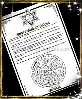 WICCAFLIX A4 A5 Wheel Of Year Leaflet Script And Meaning Wicca Pagan  Witchcraft