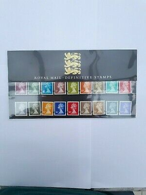 GB Royal Mail definitive stamps presentation pack no 34
