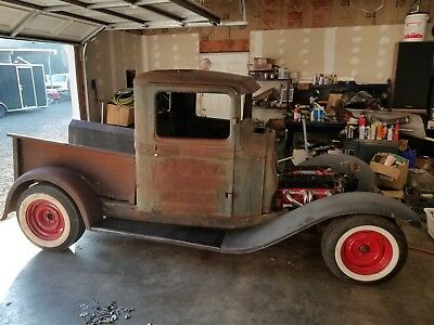 1934 Ford Other Pickups Hot Rod 1934 Ford Pickup Chev 350, Turbo 350, mustang II, Hot Rod Project Rat Rod 32 33
