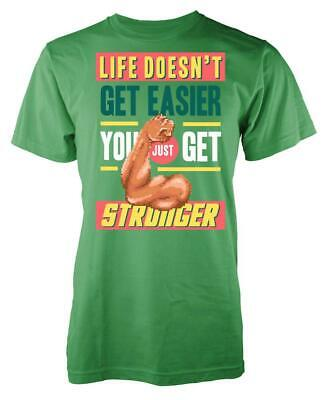 80s 8 bit blocky Life Doesn't Get Easier You Just Get Stronger Kids T Shirt
