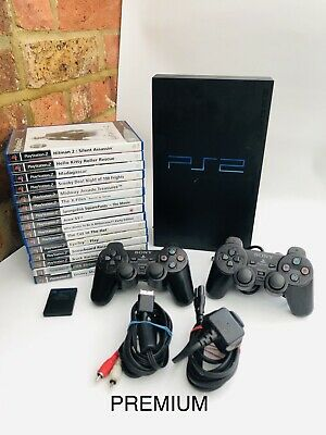 Sony PlayStation 2 PS2 Console TESTED WORKING Official Pad Plus PREMIUM 15 Games