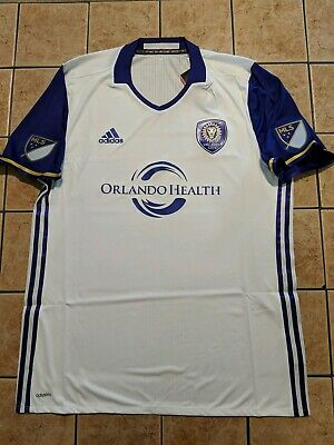 67afdc4dd Orlando City SC 16 17 Away Shirt Authentic Blank Jersey Adidas Men s White  NWT