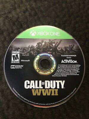 Call of Duty: WWII (Microsoft Xbox One, 2017) GAME DISC ONLY