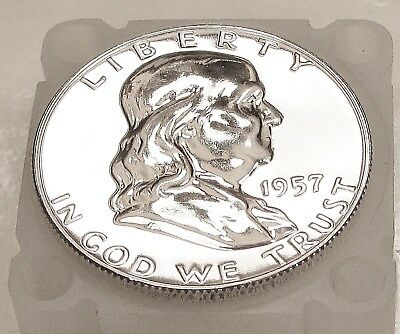 1957  Franklin   Choice  Proof   90%   Silver  >Coin  as  Pictured<  #1025  13