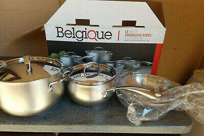 BELGIQUE COOKWARE 13 Piece Stainless Steel with Copper