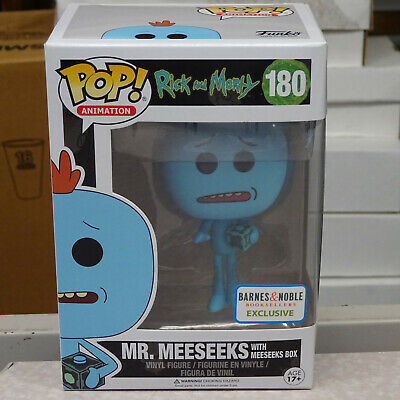FUNKO POP RICK And Morty Mr  Meeseeks With Box Barnes & Noble