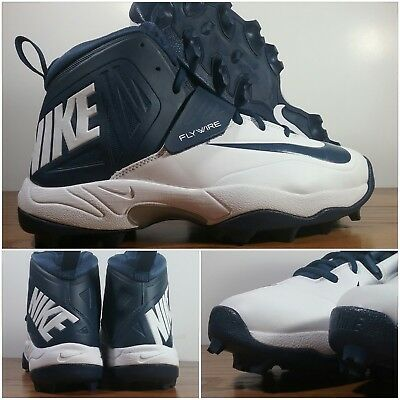 37b8dd6c5e4 Nike Flywire Lineman 3 4 TD Football Cleats Blue White Cowboys 603350-140  Men