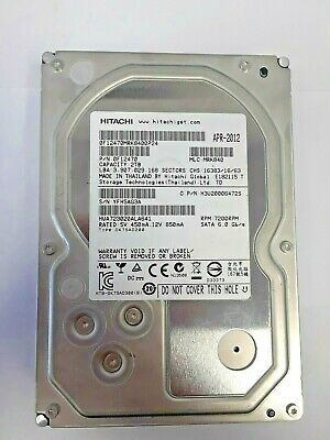 "Hitachi Ultrastar 7K3000 2TB,Internal,7200RPM,3.5/"" HDD 0F19221 HUA723020ALA641"