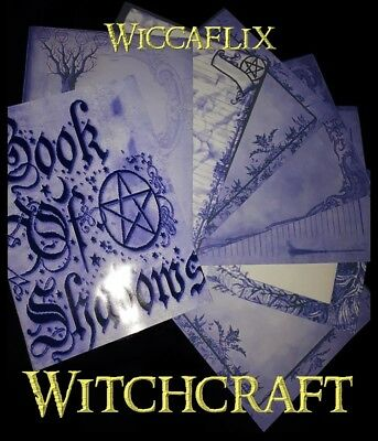 Wiccaflix A5 Purple 30 Parchment Witchcraft Wiccan pages Journal Book of Shadows
