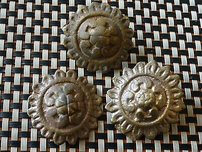 LOT OF 3 ANCIENT BYZANTINE MEDIEVAL BRONZE BELT MOUNTS 9th - 13th CENTURY AD