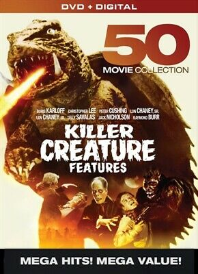 KILLER CREATURE FEATURES 50 MOVIE COLLECTION New Sealed 10 DVD Set