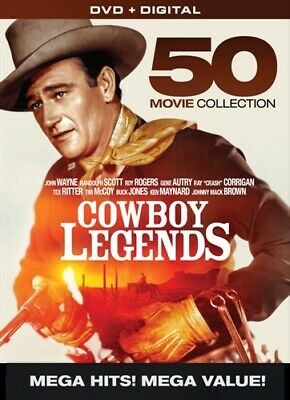 COWBOY LEGENDS 50 MOVIE COLLECTION New 10 DVD Set John Wayne Randolph Scott
