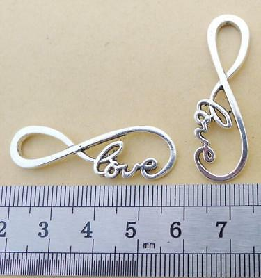 5 Celtic Knot Connector Charms Antique Silver Tone Double Infinity SC4459