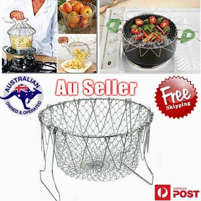 M_Deep Fry Basket Stainless Round 23*11cm, Fryer / Deep Frying / W0