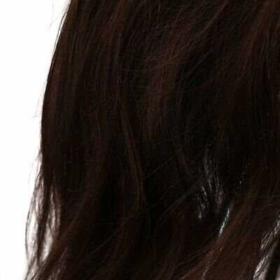 """HOT 18""""/22"""" Long Real Hair Hairdressing Training Practice Mannequin Head w/Cl E⊥"""