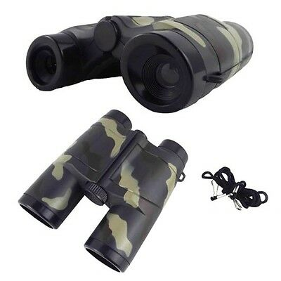4X 35mm Camouflage Children Gift Portable Plastic Binocular Telescope Toy 7L