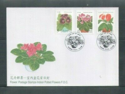 Taiwan R.O China 1999,flowers , Complete 3V on FDC