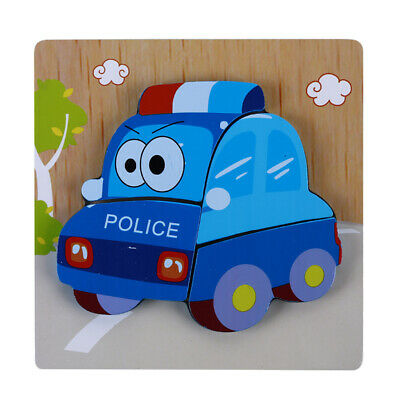 Kids Baby Early Learning Wooden Cartoon Jigsaw Educational Toy Puzzle B