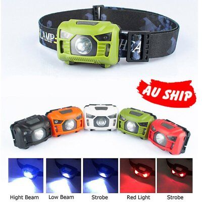 LED Head Torch Headlight Lamp CE Camping Induction Headlamp USB Rechargeable RY