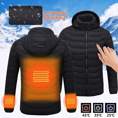 USB Heater Hunting Vest Heated Jacket Heating Winter Clothes Men Thermal ZI