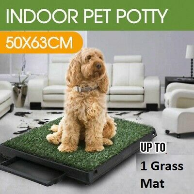 Toilet Mat Potty Training Portable Dog Pet Loo Grass Indoor Puppy Tray Large Pad