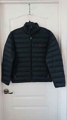 fe18a051d0bef NWT Polo Ralph Lauren Puffer Quilted Down Jacket ~ Navy Blue ~ Large ~  198