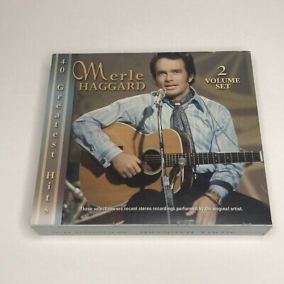 Merle Haggard - 40 Greatest Hits 2 CD Set Excellent Used Condition