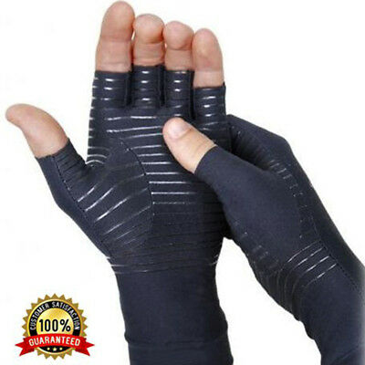 Arthritis Gloves Compression Joint Copper Pain Relief Hand Wrist Support Brace A