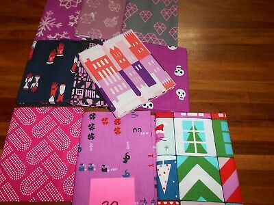 Quilting Fabric - Fat Quarter Bundle X 10 (No.20) Cotton And Steel