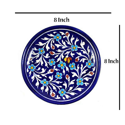 Wall Plate Ceramic Handmade | Collector Plates | Wall Decor Hanging Blue Pottery