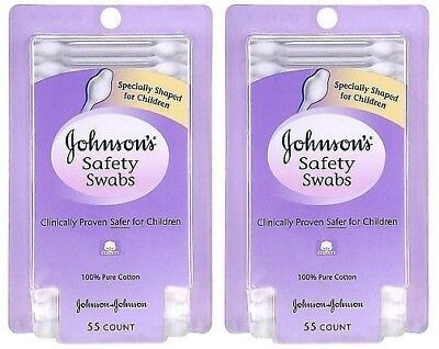 2 Pack - Johnson's Safety Swabs 55 Count Each