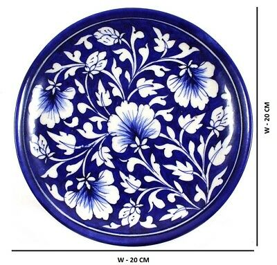 Plate Serving & Wall Decor Ceramic 1 pc Handmade Khurja Pottery Home Decor
