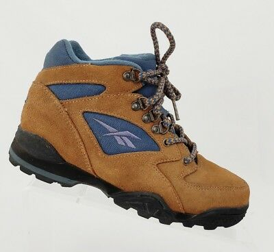 45fb1800fe54 Vtg 90 s Reebok Women s Hiking Outdoor Lace Up Boots 26-26100 Blue Brown Sz