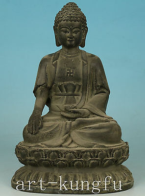 Rare old Tibet Bronze Collect Hand Carved Buddha Statue Decoration