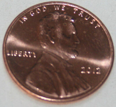2012-P Lincoln Shield Cent Uncirculated BU Red Penny