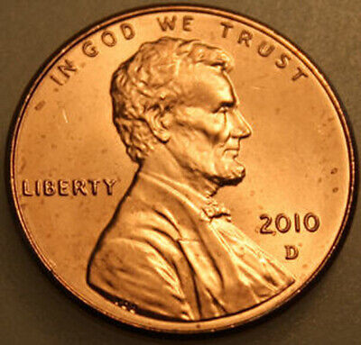 2010-D Lincoln Shield Cent Uncirculated BU Red Penny
