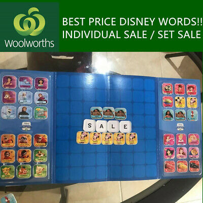 Woolworths Disney Words Tiles all characters - Family Collectible Gift Toy