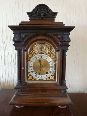 Superb mahogany 1/4 striking bracket clock by W & H GWO