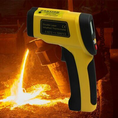 Dual Laser LCD Display Infrared Thermometer -50 To 1050 Degree Celsius HT- Y~