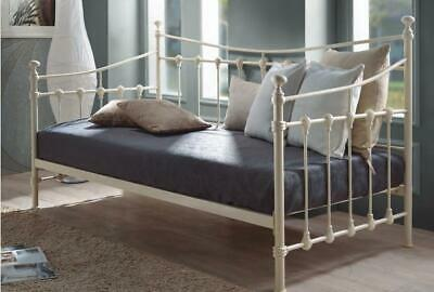 Julian Metal Guest Day Bed In Ivory Or Black Finish Traditional Style Single