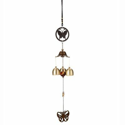 Home Retro Butterfly Wind Chimes Garden Wind Bell Hanging Decoration N2