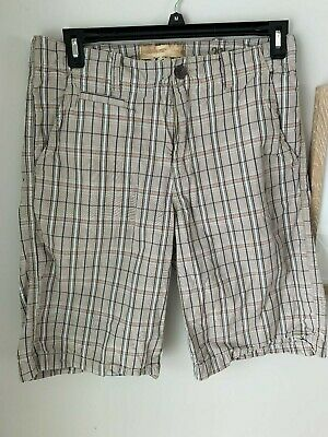 BKE Buckle Men's Shorts Plaid/Checkered Tan/Orange Size 31 Lightweight! EUC!